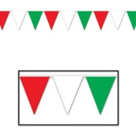 Banner Pennant Outdoor Red, White, Green