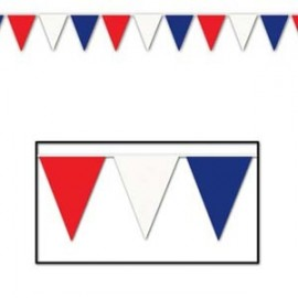 Pennant Banner Red White Blue