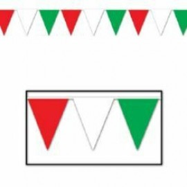 Banner Pennant Red, White & Green