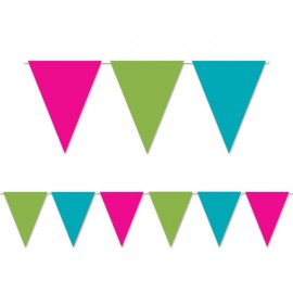 Pennant Flag Banner Cerise, Lime Green & Turquoise