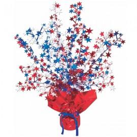 Centrepiece Stars Gleam n Burst  Red, White & Blue