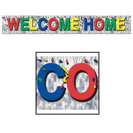 Banner Welcome Home, Metallic Fringe