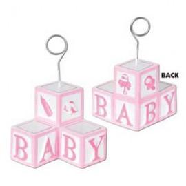 Photo Holder Balloon Weight Pink Baby
