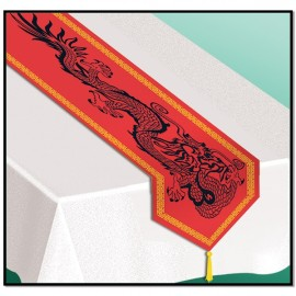 Asian Dragon Table Runner Printed