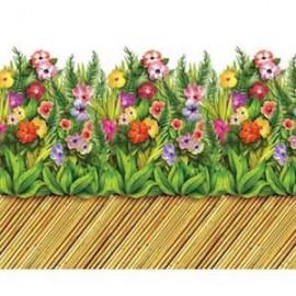 Border Roll Tropical Flower & Bamboo