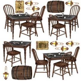 Cutout Props Salloon Table