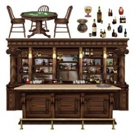 Cutouts Props Saloon Bar Scene