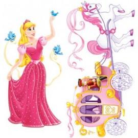 Cutout Props Princess & Carriage
