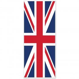 Door Cover Union Jack Plastic 76cm x 1.83m