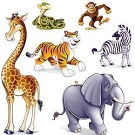 Cutout Props Jungle Animals