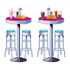 Cutout Props Soda Shop Tables & Stools