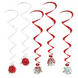 Hanging Decoration Whirls Roses