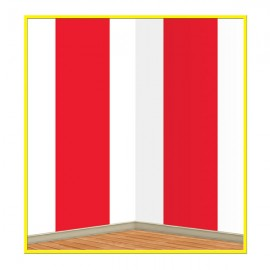 Backdrop Red & White Stripes Scene Setter