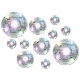 Cutouts Disco Balls Assorted Sizes Value Pack