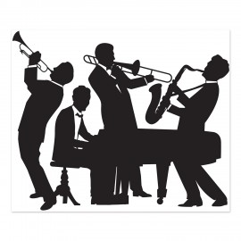 Scene Setter Great 20's Jazz Band Wall Decoration