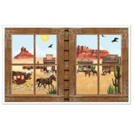 Cutout Props Western Window