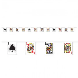 Playing Card Pennant Banner Plastic