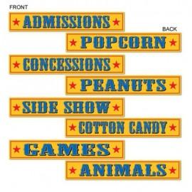 Cutouts Circus Signs