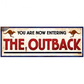 Cutout Outback Sign