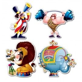 Cutouts Circus Assorted Designs