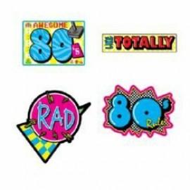Cutouts 80's Awesome, Rad, Like Totally
