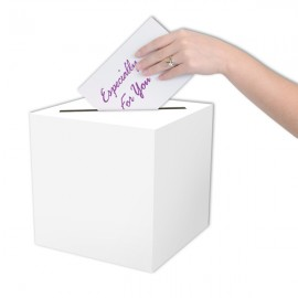 Card Box All Purpose Receiving White