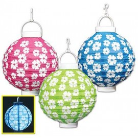Lanterns Hibiscus Light Up Battery Operated