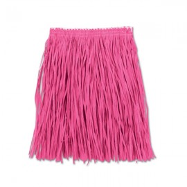 Hula Skirt Mini Pink - Adult Size