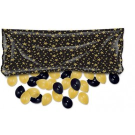 Balloon Release Drop Bag Black & Gold Stars