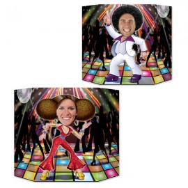 Disco Couple Photo Prop 2 Sided Design