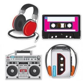 Cassette Player & Headphones Cutouts