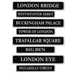 British Street Signs Cutouts