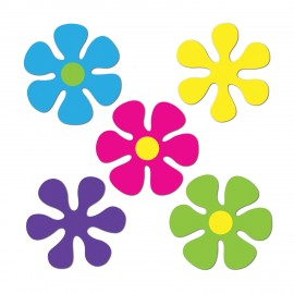 Cutouts Retro Mini Flowers Assorted Colours