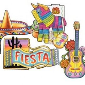 Cutouts Fiesta Assorted 40cm