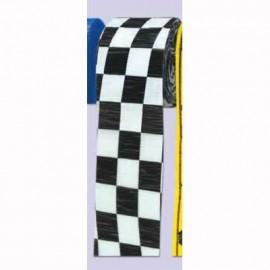 Crepe Streamer Checkered Black & White