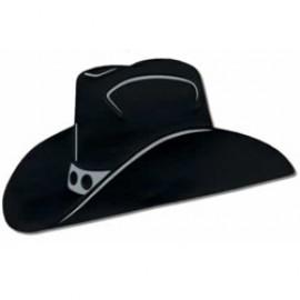 Cutout Silhouette Foil Cowboy Hat Black