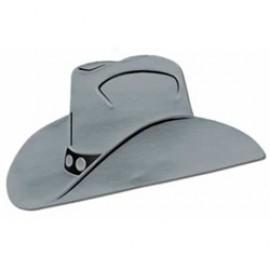 Cutout Silhouette Foil Cowboy Hat Silver