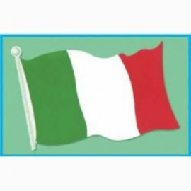 Cutout Italian Flag