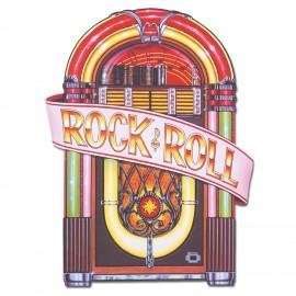 Cutout Jukebox Rock & Roll Printed Both Sides