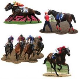Cutouts Horse Racing Assorted Designs