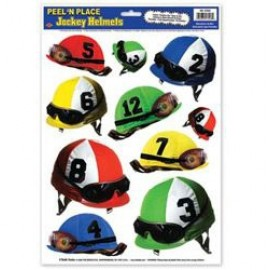 Stickers Peel N Place Jockey Helmets