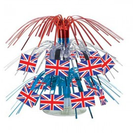 Centerpiece British Flag Mini Cascade