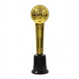 Trophy Gold Microphone