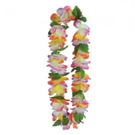 Lei Hawaiian Silk n Petals Tropical Garden Flowers