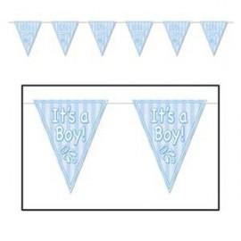 Banner Pennant It's A Boy Blue Rattle