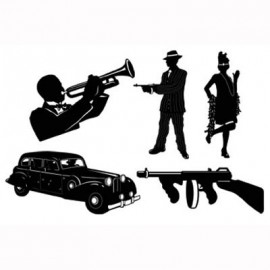 Silhouettes Gangster (51cm)