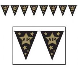 Banner Pennant VIP Gold Stars