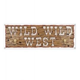 Wild Wild West Western Banner 1.5m x 53cm