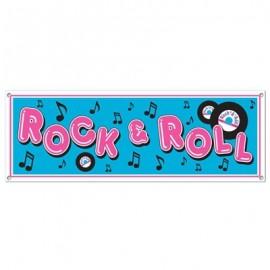 Banner Rock & Roll Sign