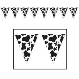 Banner Pennant Cow Print